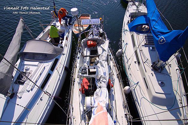 Min båt i mitten....Påskdagen Hallands Väderö...