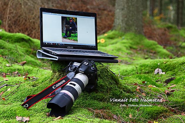 Vid gott väder kan man väl lika gärna sätta sig i skogen och redigera bilder.... ett stenkast bakom mitt hus!
