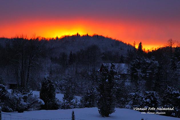 Kvällen innan denna häftiga solnedgång