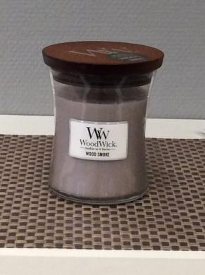 Woodwick doftljus Wood Smoke -