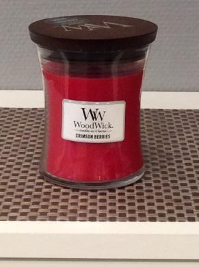 Woodwick doftljus Crimson Berries -
