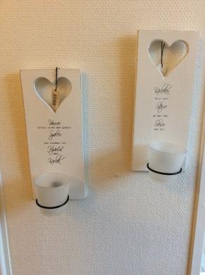 Ljushållare vägg med glas - Vänner