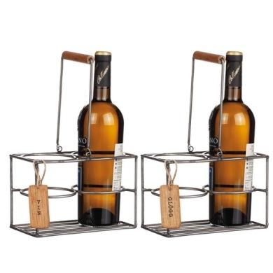 Glögg/Vin hållare trä/smide -