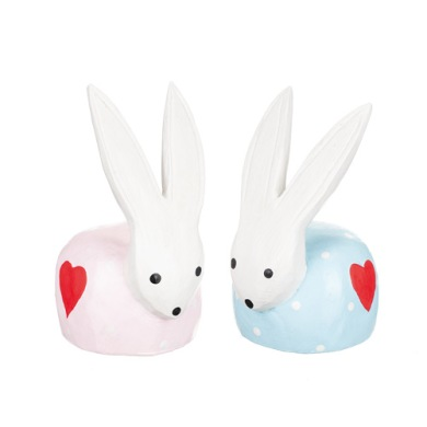 Kanin i trä - Kanin i trä ljusblå
