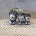 Hundset i trä - Hundset i trä grå