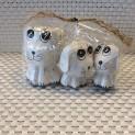 Hundset i trä - Hundset i trä vit