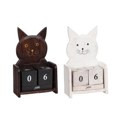 Kalender katt - Kalender katt vit