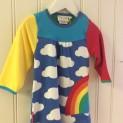 Klänning barn regnbåge - Klänning barn 6-12 mnd