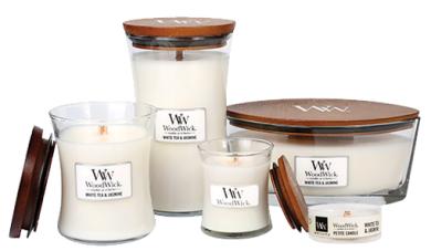 Woodwick doftljus White Tea & Jasmine -