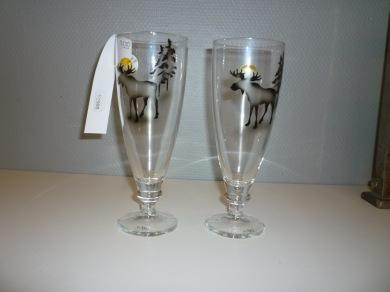 Glas älgmotiv Nybro - Ölglas älg Nybro