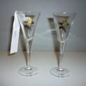 Glas älgmotiv Nybro - Snapsglas älg Nybro