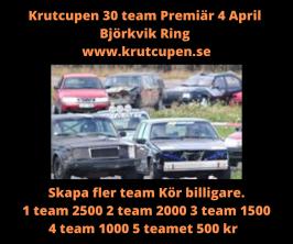 special 4 April skapa fler team =kör billigt