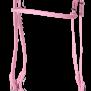 KARLSLUND SuperStrap träns - Rosa m. silverspännen