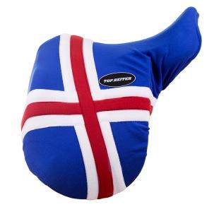 TOP REITER sadelöverdrag ICELAND - Blå/vit/röd (Islandsflaggan)