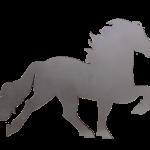 KARLSLUND Islandshäst dekal i rostfritt stål