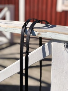 J.S Saddlery Tygel med flätat inslag