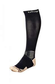 UHIP Compression Wool Riding sock Jet Black