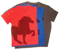 KARLSLUND T-shirt w. horse and V-neck