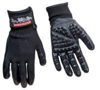 KARLSLUND Grooming gloves - Rykthandskar med massagefunktion!