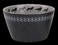 KARLSLUND skål med islandshästar