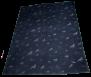 KARLSLUND filt med Islandshästmotiv - Mörkgrå