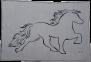 KARLSLUND filt med Islandshästmotiv - Ljusgrå