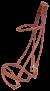 KARLSLUND komplett rundsytt träns, kombinerat - Brun, mässing