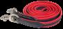 KARLSLUND vävd gummitygel - Röd, krom
