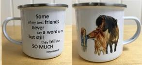 Mugg med handmålat Islandshästmotiv - Mugg Friends