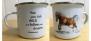 Mugg med handmålat Islandshästmotiv - Mugg Run wild