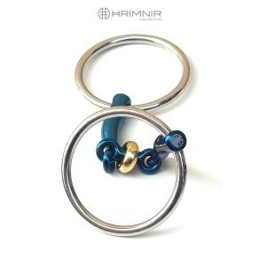 NYHET! HRÍMNIR Titanium bit Fjóla, double-jointed, loose ring, 12 mm
