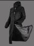 UHIP Regular Sport Coat stall- och ridregnkappa - Jet Black 46