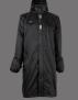 UHIP Men's Regular Sport Coat Navy - Ridregnkappa för män! - Jet Black XL