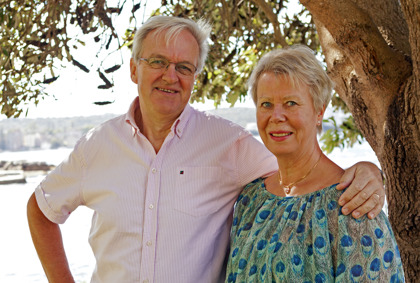 Leif Törnblom, fotograf, och Marie Törnblom, författare.