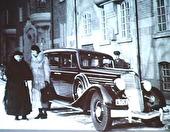 Sista bilden på Hanna vid limousinen.