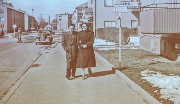1954 Nya tanneforsvägen vid Drottningtorget