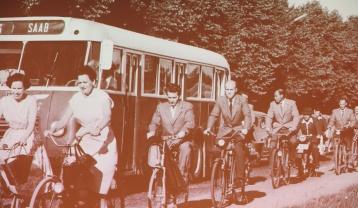Med cykel och buss till jobbet