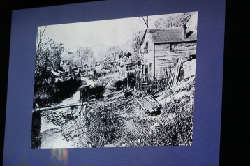 Autentisk gammal bild från dalen