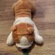 Klicka på bilden för att se fler leksaker - Bulldoghund med pip 25cm