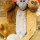 Klicka på bilden för att se fler leksaker - 3.Prassel apa, två färger att välja på. 42cm