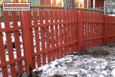 Rödmålat staket
