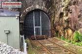 Stålnätspanel som tunnelavstängning