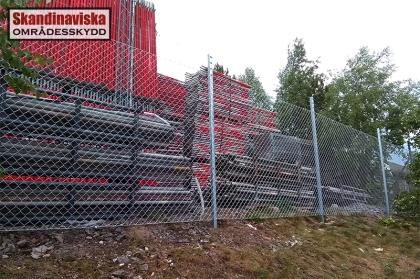 Varmförzinkat industristängsel med taggtråd