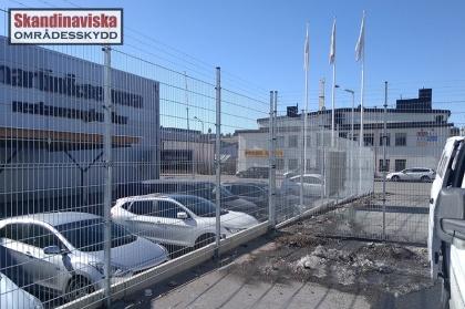 Varmförzinkade stålnätspaneler med taggtråd