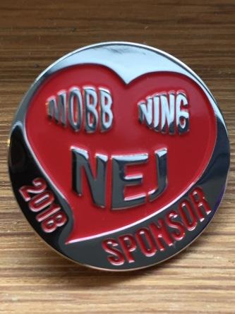 Nej-Mobbning pin -