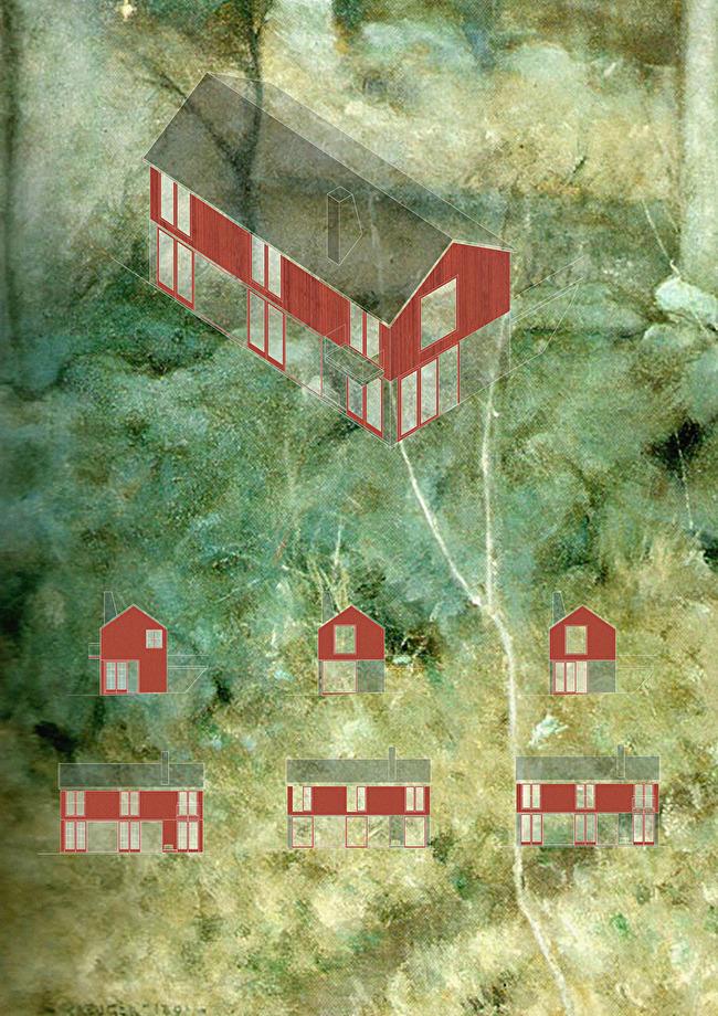 Bakgrund Nils Kruegers målning Månsken i Varberg
