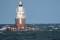 Lighthouse in Malmö harbour and Gannet - Fyr i Malmö hamn med havssulor