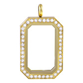 Gold heritage story lockets with crystals