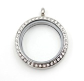 Silver Story Locket with crystals