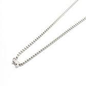 24 inch Silver cube chain
